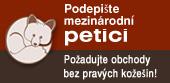 podepsat petici za obchody bez kožešin, www.obchodbezkozesin.cz